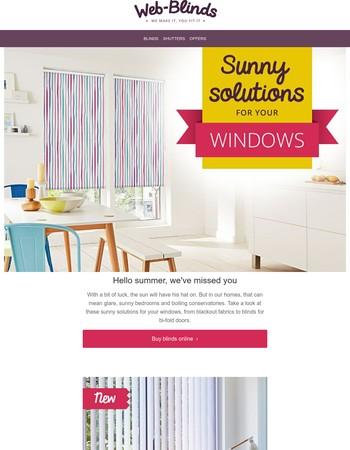 Hello summer | Sunny ideas for your windows