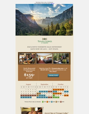 Lucky You! Yosemite Sale Extended 3 Days!