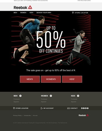SALE: Up to 50% off continues