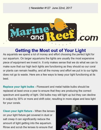 MarineAndReef.com Getting the Most out of Your Light