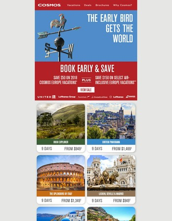 2018 Europe On Sale - Save up to $200/couple