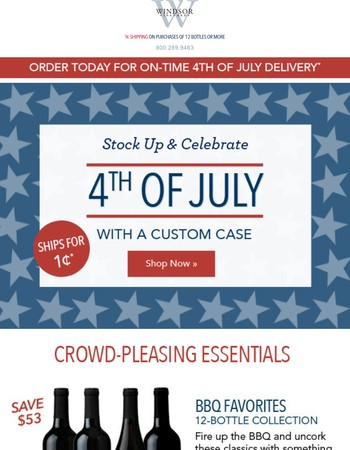 ★ Stock up for the 4th with 1¢ shipping! ★