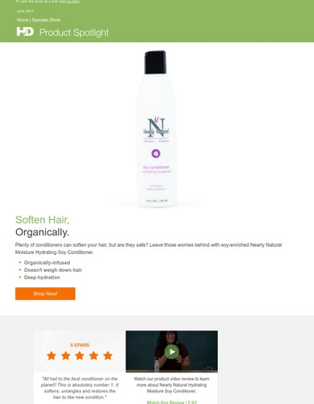 Product Spotlight: Nearly Natural Hydrating Conditioner