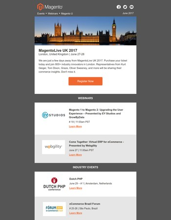 Don't Miss These Upcoming Magento, Industry, and Community Events