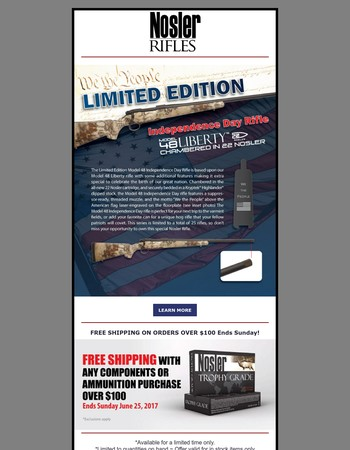 Introducing the New Limited Edition Nosler Rifle