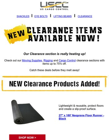 New Clearance Items Up to 75% off!