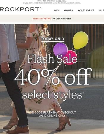 40% off flash sale - final hours!