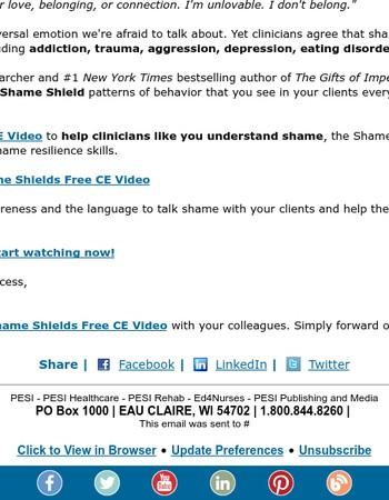 Brené Brown, Ph.D. on Shame - FREE CE Video
