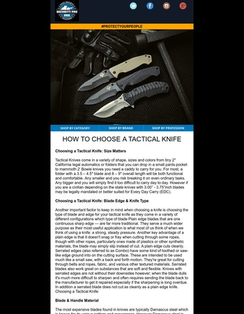 How to Choose the Perfect Tactical Knife