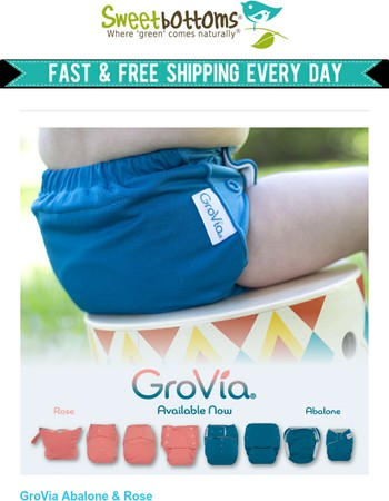 Meet the NEW GroVia Colors - Abalone & Rose!