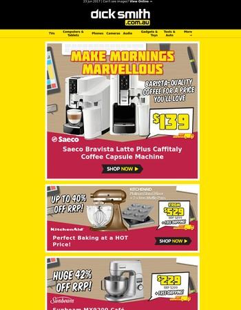 EOFY Price Blitz: Coffee Machines, KitchenAid & More!