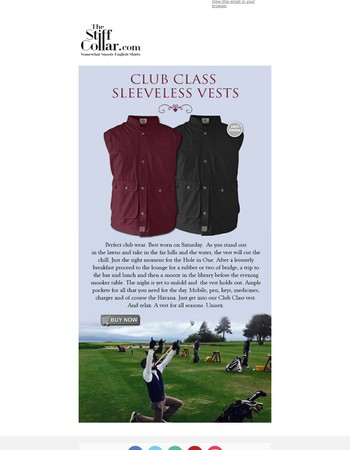 Sleeveless Cotton Vests from The Stiff Collar - in black and maroon