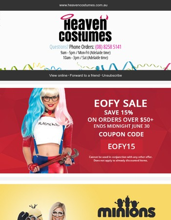 EOFY Sale - Save 15% Site Wide