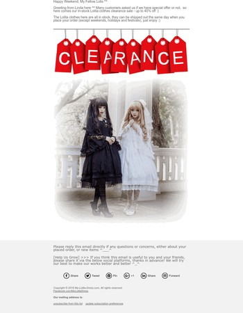 MLD In-stock Lolita Items Clearance Sale
