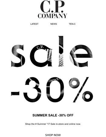 Summer '17 Sale -30%