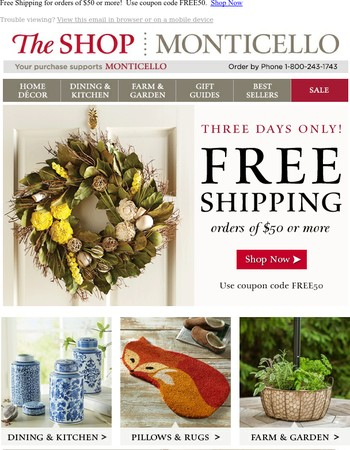 FREE SHIPPING! This Weekend Only!