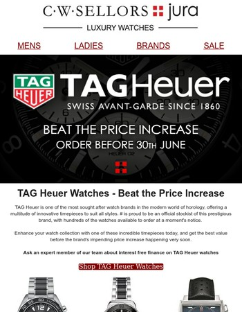 Tag Heuer Beat the Price Increase