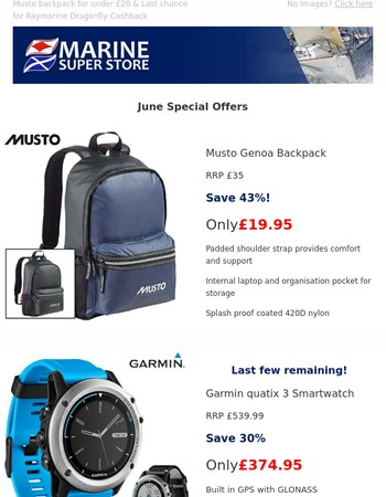 Musto backpack for under £20