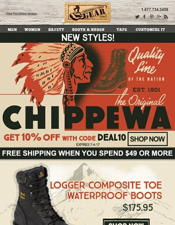 Save On Chippewa USA Made Boots!