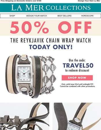 ⚡⚡ 50% OFF the Reykjavik Watch! Flash Friday!!  ⚡⚡
