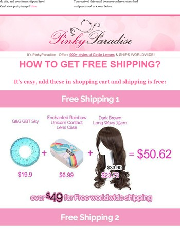 Free Shipping is that easy