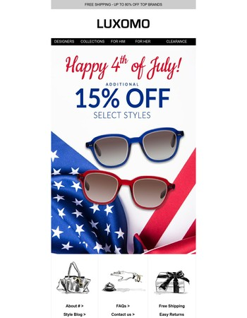 We're Celebrating July 4th Early: Shop Savings!