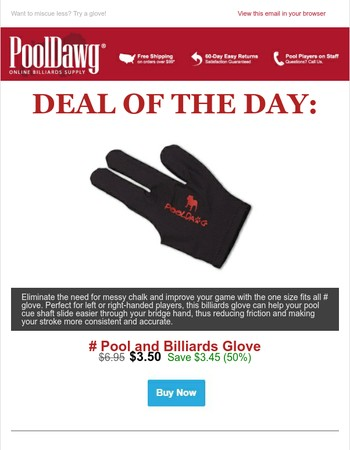 Deal of the Day: PoolDawg Glove