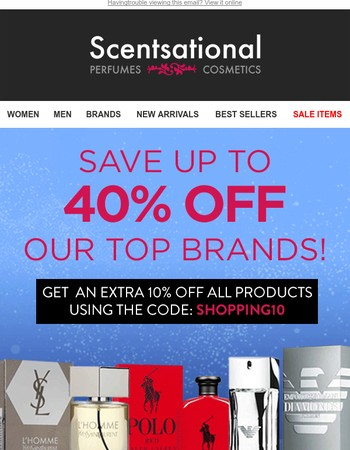 Up To 40% Off Top Brands + Your Chance To WIN