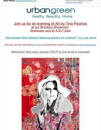 RSVP: Artwork by Tina Psoinos Opening Reception in Brooklyn