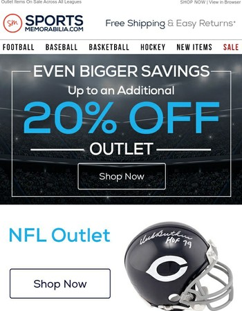 Bigger & Better! Up To 20% Off Outlet Items