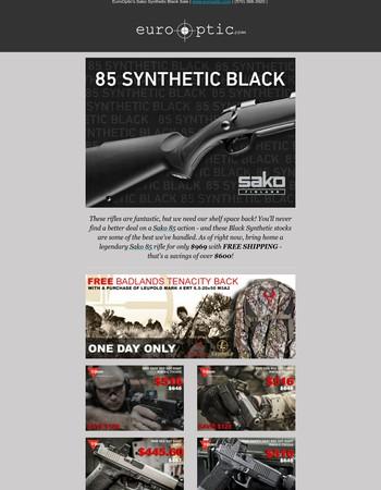 New Closeout Pricing on Sako 85 Black Rifles!