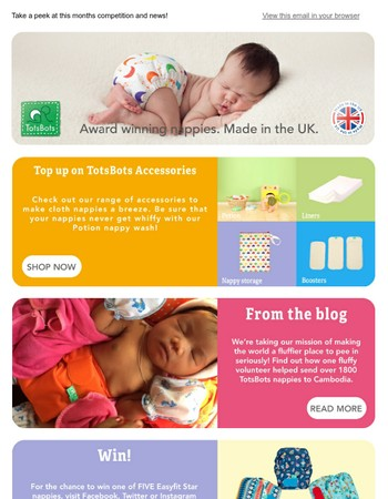 Top up your TotsBots | WIN 1 of 5 Easyfit Star Nappies!