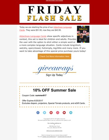 Check Out Today's Exciting Flash Friday Sale