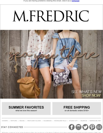 M. Fredric Newsletter