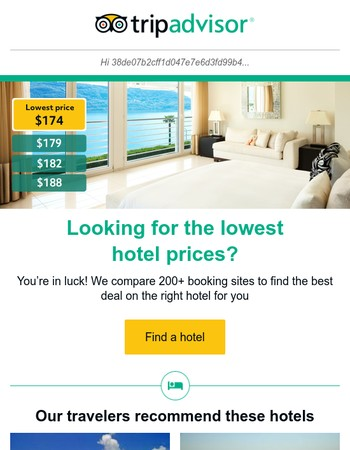 We ♥ finding you the lowest hotel prices