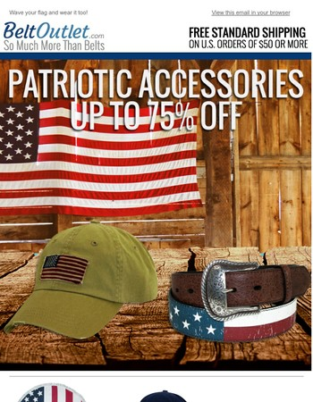 4th of July Accessories Up to 75% Off!