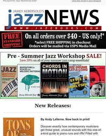 Last Week to Save on Summer Jazz Workshop Texts!