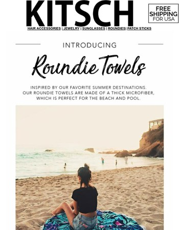 Roundie TOWELS! Perfect for Summer Beach Days!