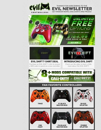 The Ultimate Sale is still live! Order a controller for $164.99 and get all add-ons for FREE!