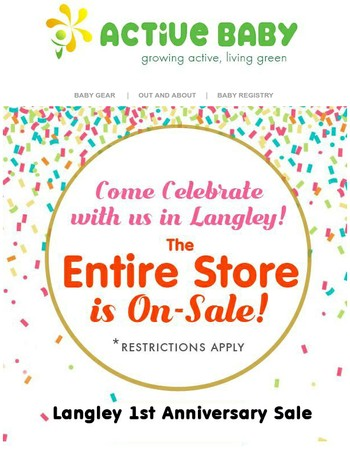 Are you coming tomorrow? Huge sale, Door prizes, Gift bags and cakes!