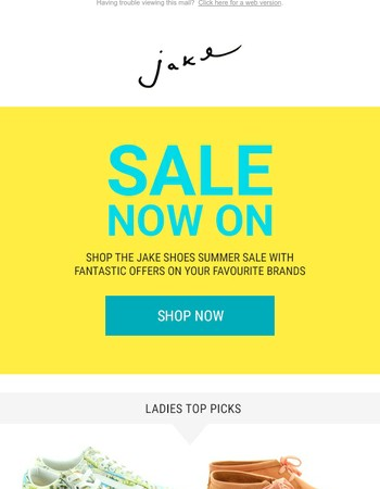 Top Picks from the Jake Shoes Summer Sale