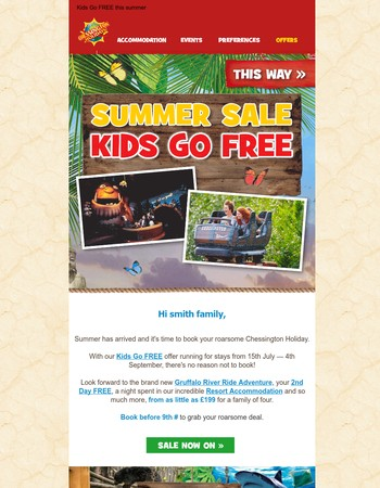 Kids Go Free this summer