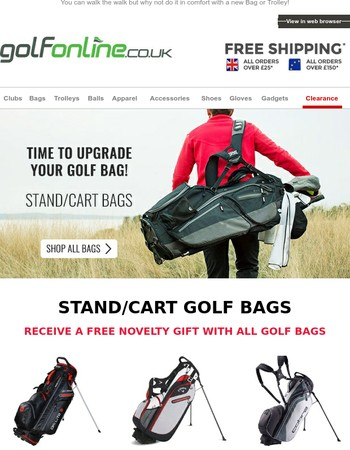 Time to upgrade your Bag or Trolley?