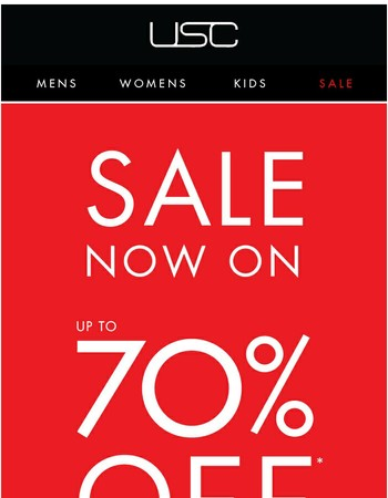 Up to 70% OFF Sale Continues....