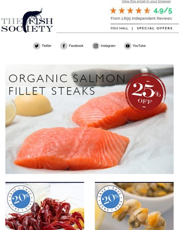 Weekend Offer: 25% off Organic Salmon Fillets