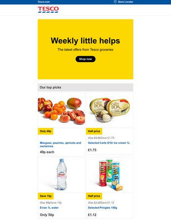 This week's top offers from Tesco Groceries
