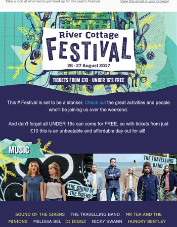 Visit River Cottage Festival from just £10