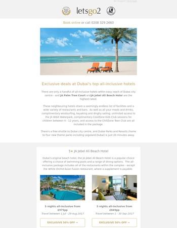 Exclusive deals at Dubai's top all-inclusive hotels