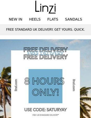 FREE UK DELIVERY STARTS NOW- 8 Hours Only!