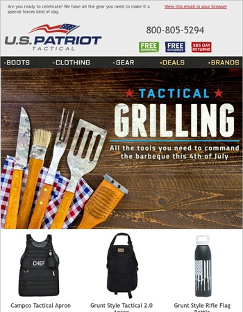 Get Your Tactical Grilling On for the 4th!